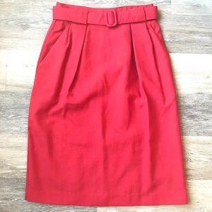 Vintage Belted Pencil Skirt